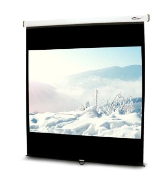 《名展影音》流線型輕巧 UNICO雅典娜系列CA-H100(4:3) 100吋手動席白壁掛布幕 安裝容易