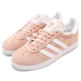 【四折特賣】adidas 休閒鞋 Gazelle 粉紅 淡粉 白 金標 麂皮 復古球鞋 女鞋【ACS】 BB5472