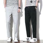夏季薄款運動褲男士寬鬆直筒長褲休閒衛褲大碼