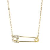 SWAROVSKI 施華洛世奇 So Cool璀燦水晶迴紋針造型金色項鍊 5512760