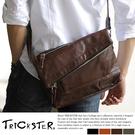 現貨【TRICKSTER】日本品牌 斜背包 折疊包 B5 小尺寸 側背包 復古皮革感 都會潮流【tr65】