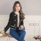 東京著衣【YOCO】經典赫本氣質滾邊小香外套-S.M.L(172654)