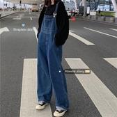 背帶褲 夏季韓版寬鬆減齡牛仔背帶褲女顯瘦連體褲高腰闊腿褲長褲 芊墨左岸