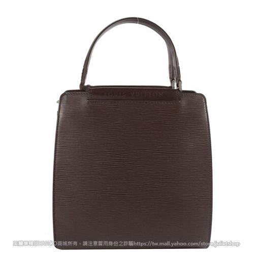 茱麗葉精品 二手名牌 【9.8成新】Louis Vuitton M5201D M52012 EPI水波紋皮革手提袋.深咖