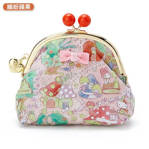 【震撼精品百貨】Hello Kitty 凱蒂貓~SANRIO繽紛包裝紙第二彈珠扣式零錢包(繽紛蘋果)