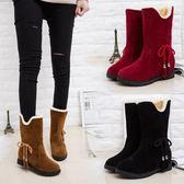 雙12好禮 雪地靴女短筒百搭韓版學生加絨靴子2018新款網紅短靴冬天冬季鞋子