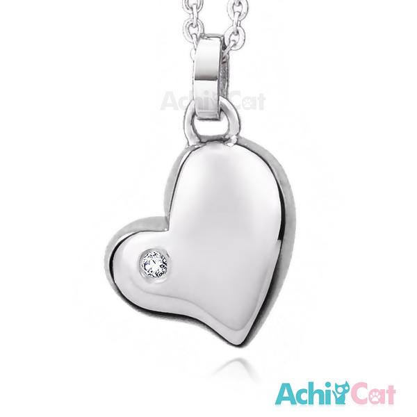 AchiCat 鋼項鍊 珠寶白鋼 蜜糖甜心 愛心 C1543