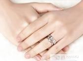 情侶戒指一對純銀日韓簡約男女素對戒學生刻字  99購物節