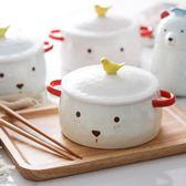 泡麵碗可愛卡通陶瓷泡面碗學生飯碗家用帶蓋雙耳湯碗拉面碗 年終尾牙【快速出貨】