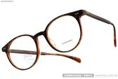OLIVER PEOPLES 眼鏡 DELRAY 1405 (琥珀棕) 經典美學熱銷半圓框 # 金橘眼鏡