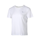 Nike AS W MILER TOP SS 女 白 慢跑 網布 拼接 透氣 運動 短袖 AJ8122-100