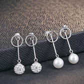耳環 925純銀鑲鑽銀飾-優雅大方絢麗生日情人節禮物女飾品2款73dy131【時尚巴黎】