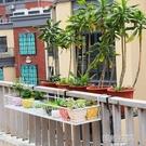 花架子室內陽台花架掛式花盆架鐵藝花架家用置物架欄桿懸掛多肉架  【優樂美】