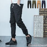 JOGGER工作褲【K99019】OBI YUAN韓版素面紅藍抽繩縮口/束口休閒褲共4色