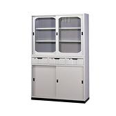 【YUDA】4*6H型上玻下中三屜 鐵櫃 文件櫃/展示櫃/公文櫃