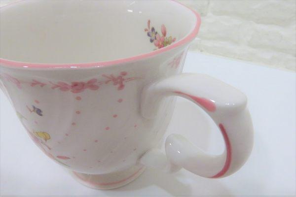 快速出貨 NIKKO  茶杯 粉紅色花卉圖案陶瓷下午茶杯盤組 咖啡杯【Tifana】