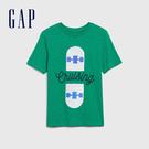 Gap 男童 可撥動亮片造型短袖T恤 573661-深綠色