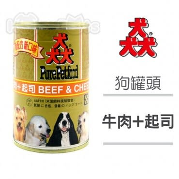 Pure Petfood 猋罐頭 牛肉+起司 狗罐385g X 24入