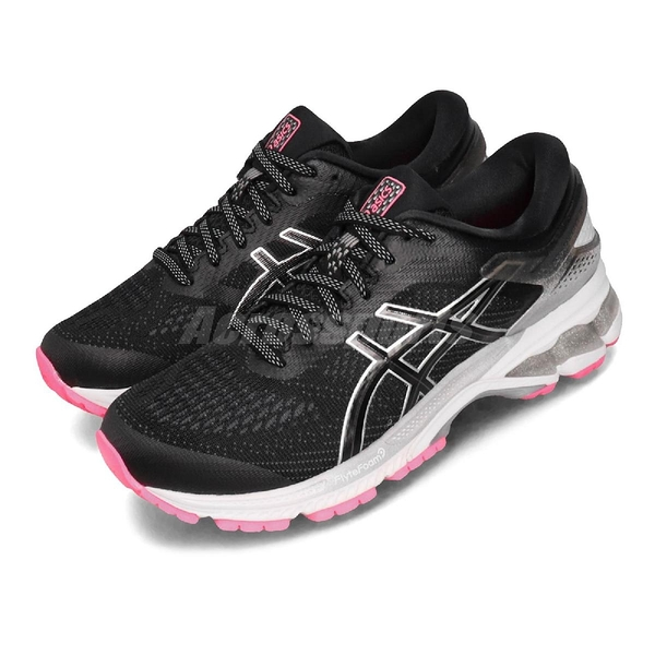 Asics 慢跑鞋 Gel-Kayano 26 Lite Show 黑 灰 女鞋 運動鞋 反光 【ACS】 1012A589001