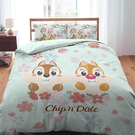 床包被套組 / 雙人加大【迪士尼奇奇蒂蒂-櫻花季系列】含兩件枕套 高密度磨毛 戀家小舖ABF312