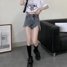 高腰牛仔短褲女夏季2021年新款設計感褲子學生顯瘦闊腿熱褲INS潮