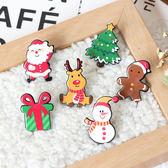 【BlueCat】聖誕節麋鹿雪人壓克力徽章/胸針