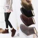 雪靴 新款韓版冬季雪地靴女短筒靴加絨加厚情侶短靴男棉鞋學生女靴   魔法鞋櫃