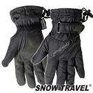 【SNOW TRAVEL 雪之旅】英國PORELLE防水透氣薄手套『黑』AR-52 防風手套.保暖手套