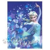 〔小禮堂〕迪士尼冰雪奇緣直式萬用大卡片《藍艾莎》送禮卡祝賀卡節慶卡4714581 05584