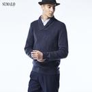 【ST.MALO】英倫紳士100%幼羊駝訂製款男毛衣-1812MK-紳士藍