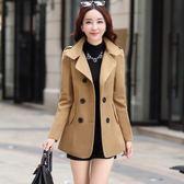 毛呢外套 外套外套女正韓小個子矮加厚呢子黑色chic妮子大衣  新年禮物