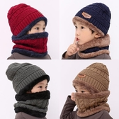 兒童帽子圍巾兩件套裝加絨男童護耳毛線帽秋冬季潮男孩中大童冬天  潮流小鋪