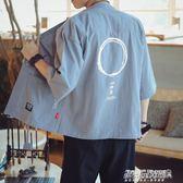開衫男 中國風外套男薄款唐裝復古日繫日式和風開衫和服亞麻防曬衣   傑克型男館