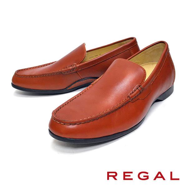 【REGAL】簡約素色樂福鞋 咖啡(T89A-BR)