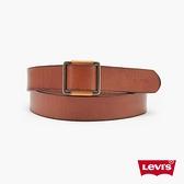 Levis 女款 真皮皮帶 / 時尚方形金屬釦 / 質感Logo壓紋