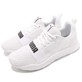 Puma 休閒慢跑鞋 Wired 白 黑 低筒 大LOGO 輕量避震 男鞋 女鞋 運動鞋【ACS】 36697002