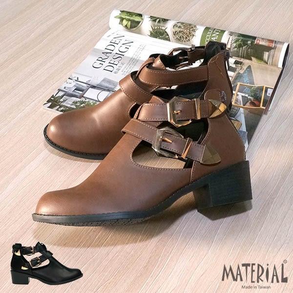 短靴 鏤空交叉雙扣飾短靴 MA女鞋 T7817