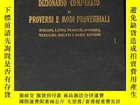 二手書博民逛書店Dizionario罕見Comparato Di Proverb
