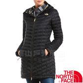 The North Face TNF 364B-YJZ黑 女纖維連帽長版外套 化纖保暖長大衣/防風風衣/機能夾克