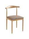 北歐餐椅家用仿實木鐵藝牛角椅子簡約靠背凳奶茶店咖啡廳桌椅組合 【母親節禮物】
