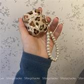 少女心豹紋適用airpods Pro保護套貝殼紋蘋果藍牙耳機套2代復古科炫數位
