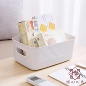 塑料收納筐化妝品收納籃廚房桌面雜物零食收納盒【櫻田川島】