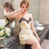 性感蕾絲睡衣女吊帶睡裙女情趣內衣紡真絲綢 ☸mousika