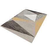 【三房兩廳】北歐簡約時尚水晶絨地毯140x200cm (幾何圖形)