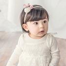 髮帶 寶寶 編織 毛球 立體 造型 髮飾