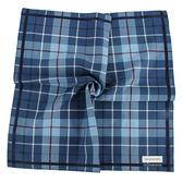 Calvin Klein CK經典格紋男士手帕/帕巾(藍色)989091-273