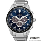 CITIZEN/星辰 光動能 限量 三眼計時 男錶(CA4454-89L) 藍/43mm