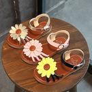 【Kidsfam】燦爛太陽花平底女童涼鞋 黃色金色粉色3色兒童款