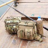 腰包/腿包 腰包迷彩單肩包水壺運動挎包漁具包釣魚包磯釣腿包 果果輕時尚