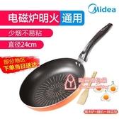深煎鍋 平底鍋不黏鍋家用牛排煎鍋烙餅鍋煎雞蛋神器電磁爐燃氣灶適用 2色T